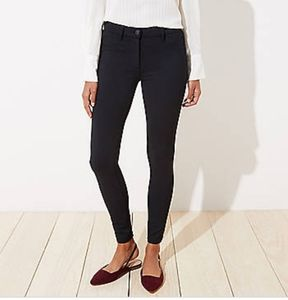 LOFT Black Brushed Legging Jeans